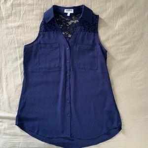 EXPRESS PORTOFINO SHIRT Purple Blouse S